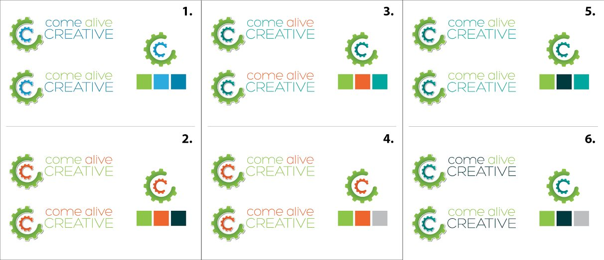 Come Alive Creative Logo Color Choices